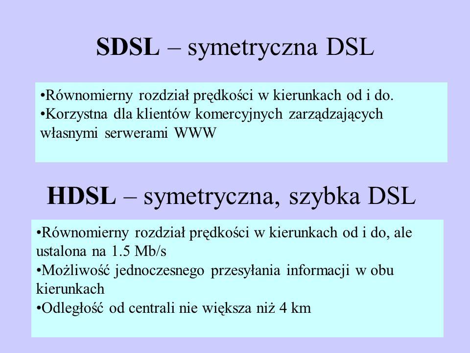 HDSL – symetryczna, szybka DSL