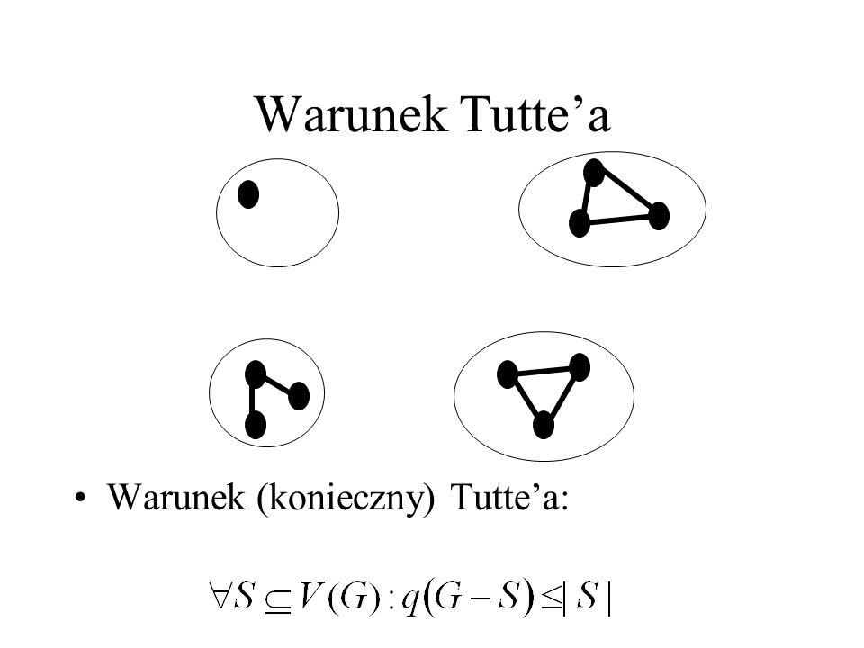 Warunek Tutte'a Warunek (konieczny) Tutte'a: