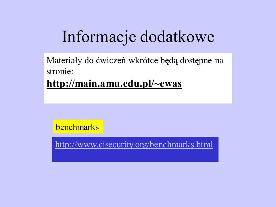 Informacje dodatkowe http://main.amu.edu.pl/~ewas