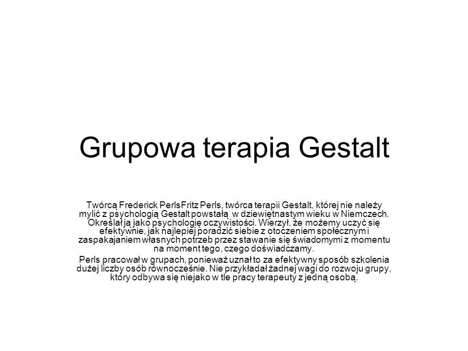 Grupowa terapia Gestalt