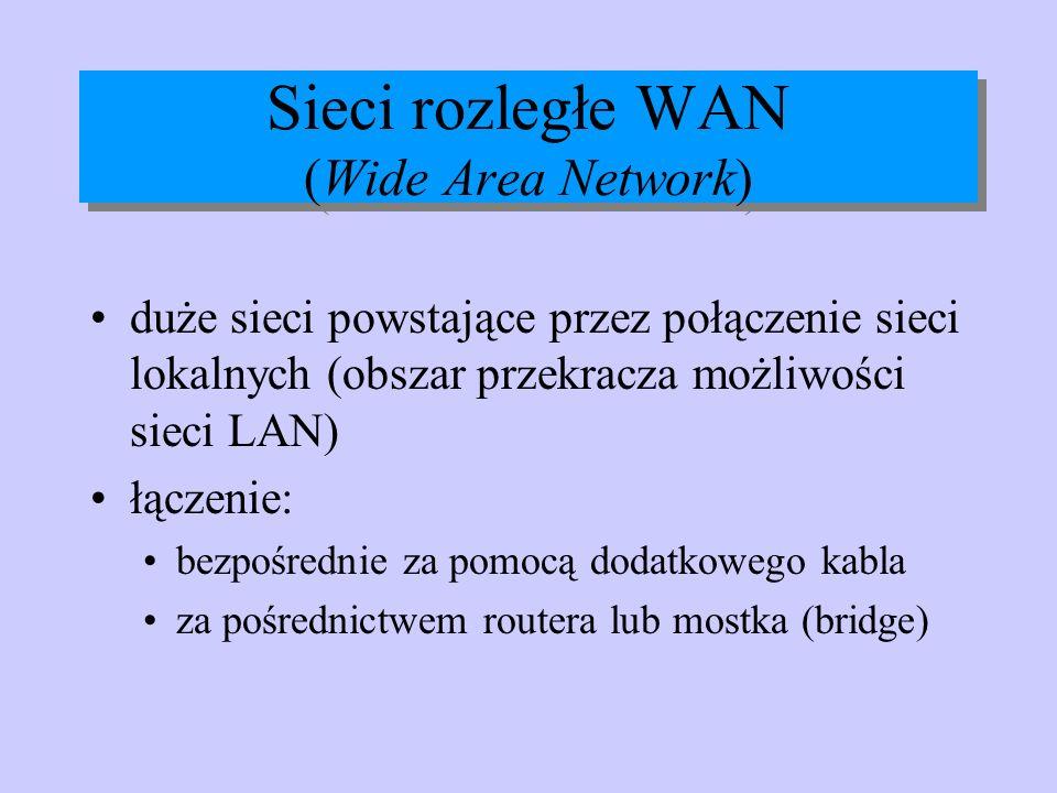 Sieci rozległe WAN (Wide Area Network)