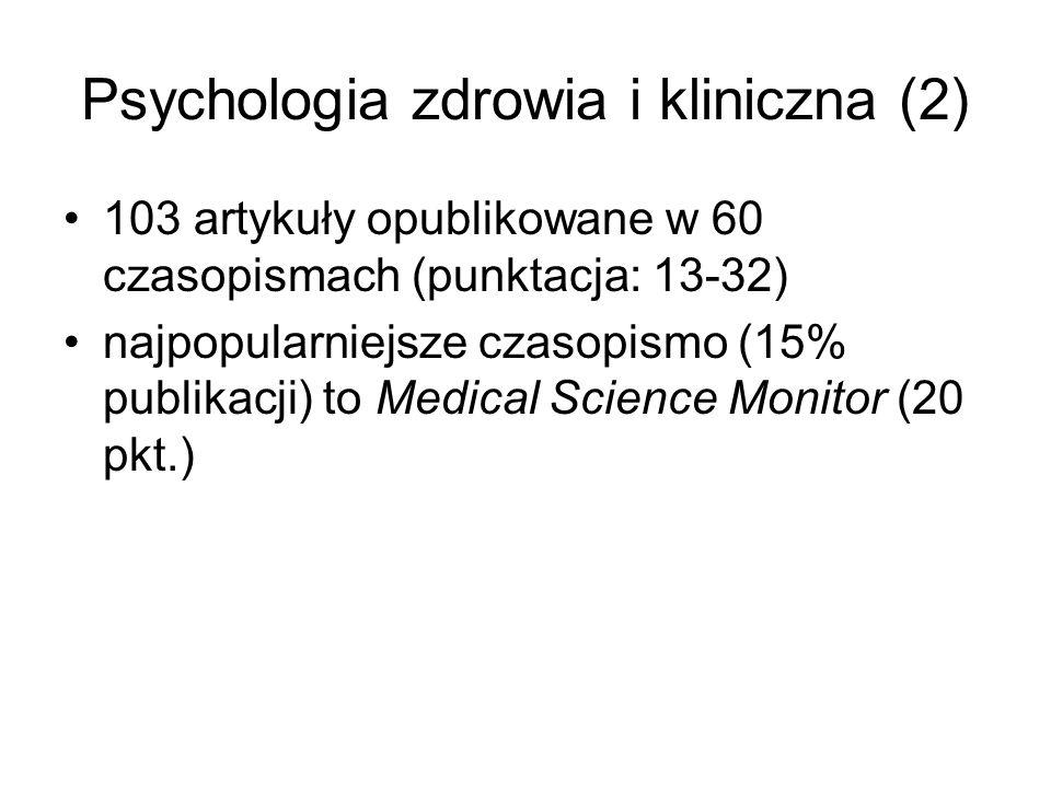 Psychologia zdrowia i kliniczna (2)