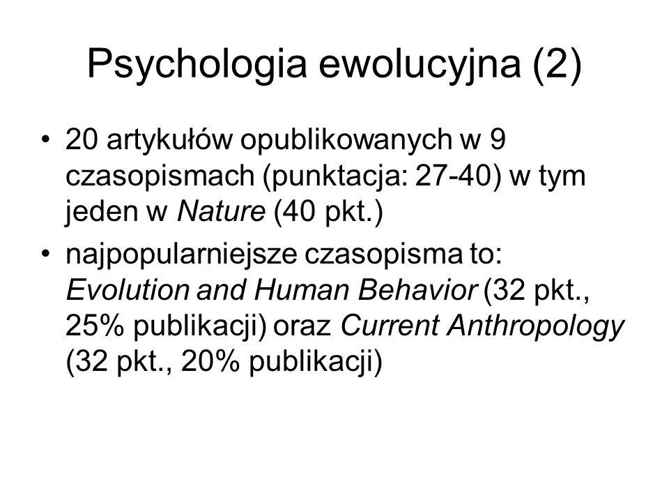 Psychologia ewolucyjna (2)