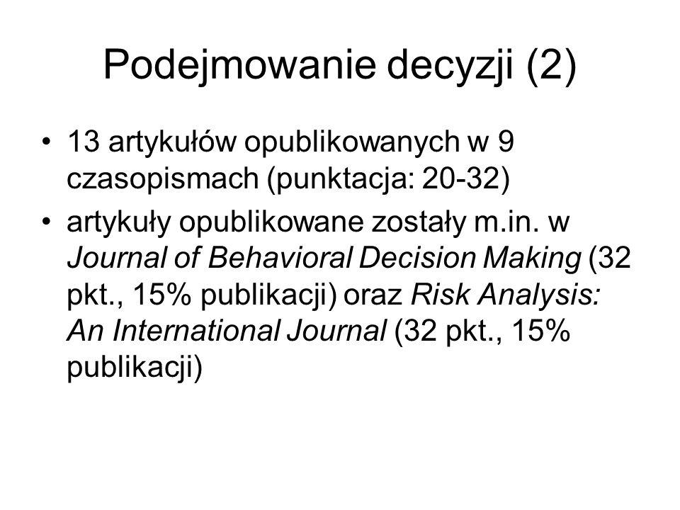 Podejmowanie decyzji (2)