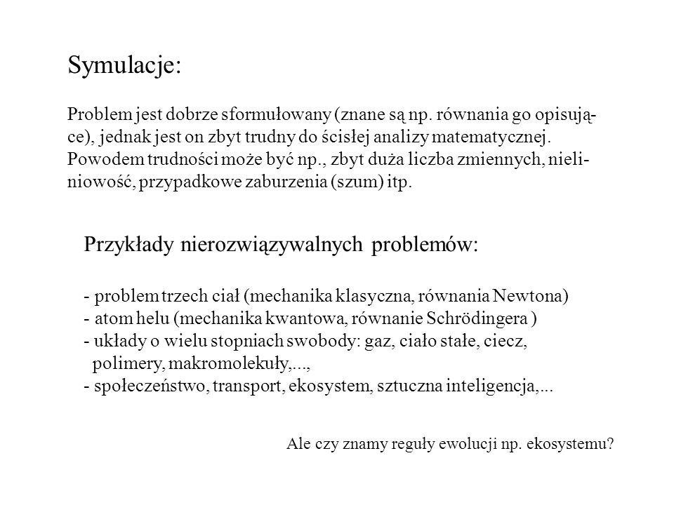 Symulacje: Przykłady nierozwiązywalnych problemów:
