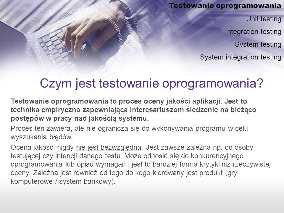 Czym jest testowanie oprogramowania