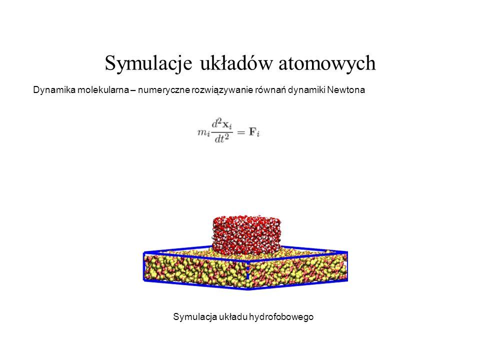 Symulacje układów atomowych