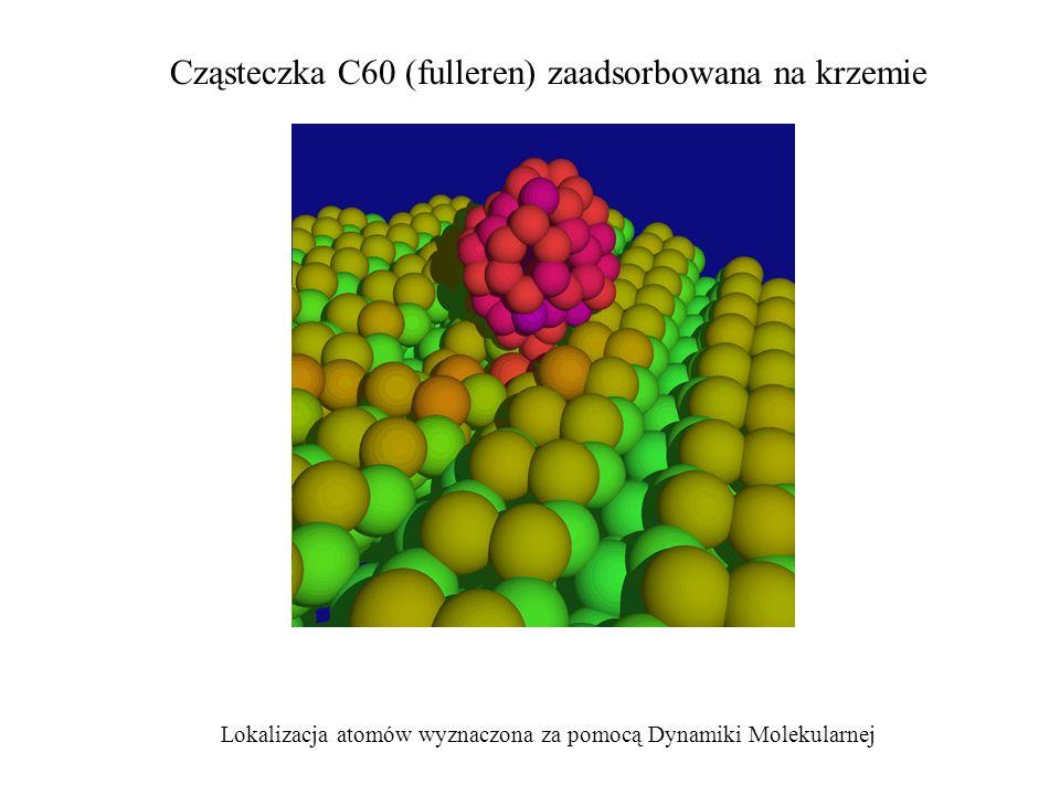 Cząsteczka C60 (fulleren) zaadsorbowana na krzemie