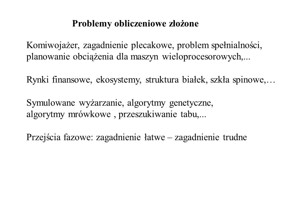 Problemy obliczeniowe złożone