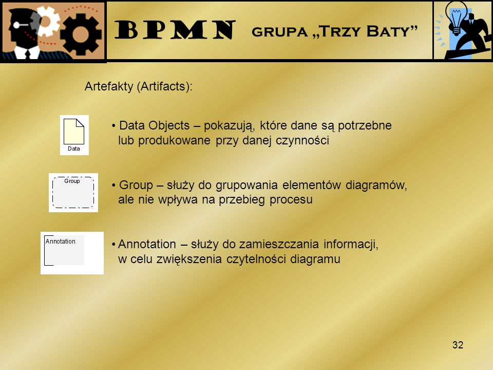 "BPMN grupa ""Trzy Baty Artefakty (Artifacts):"