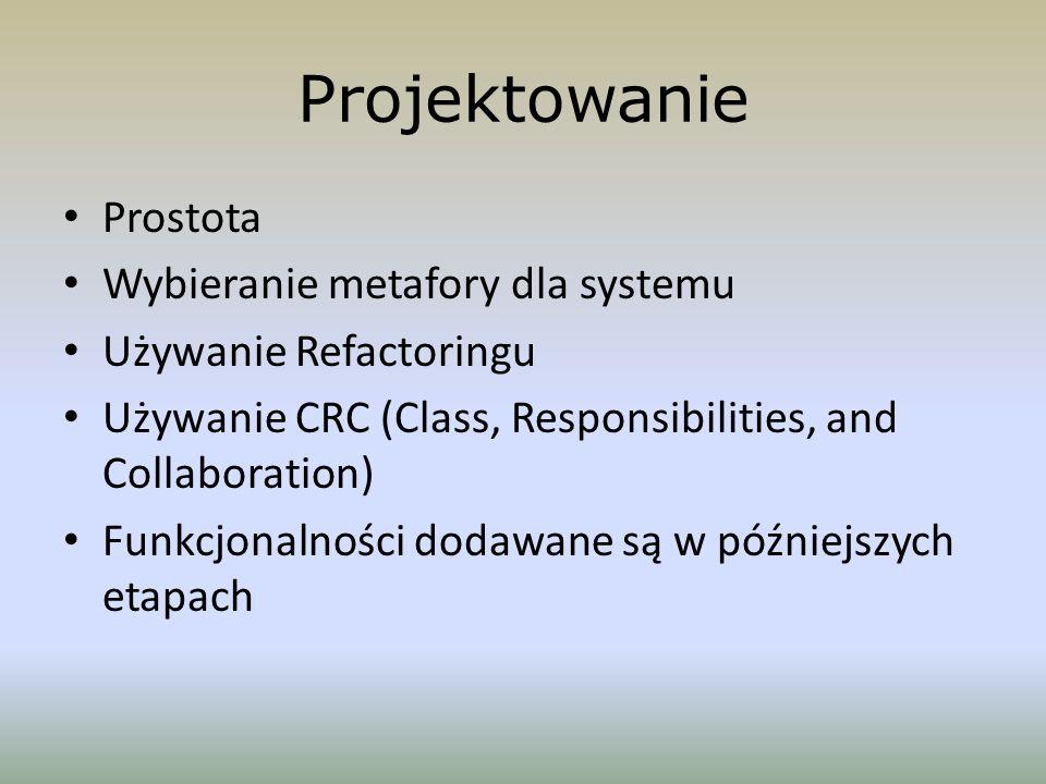 Projektowanie Prostota Wybieranie metafory dla systemu