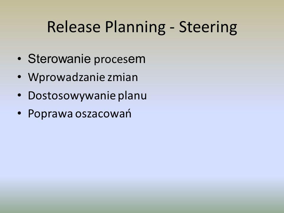 Release Planning - Steering