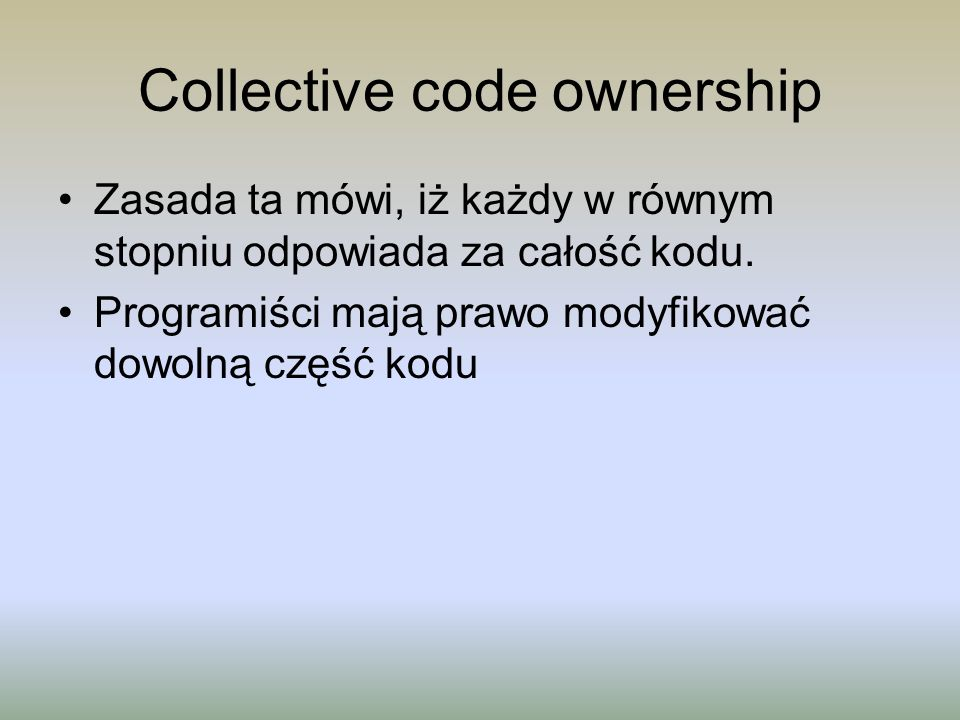 Collective code ownership