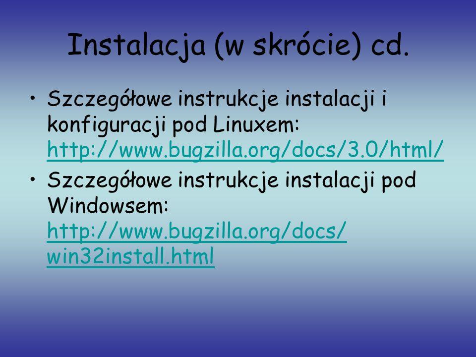 Instalacja (w skrócie) cd.