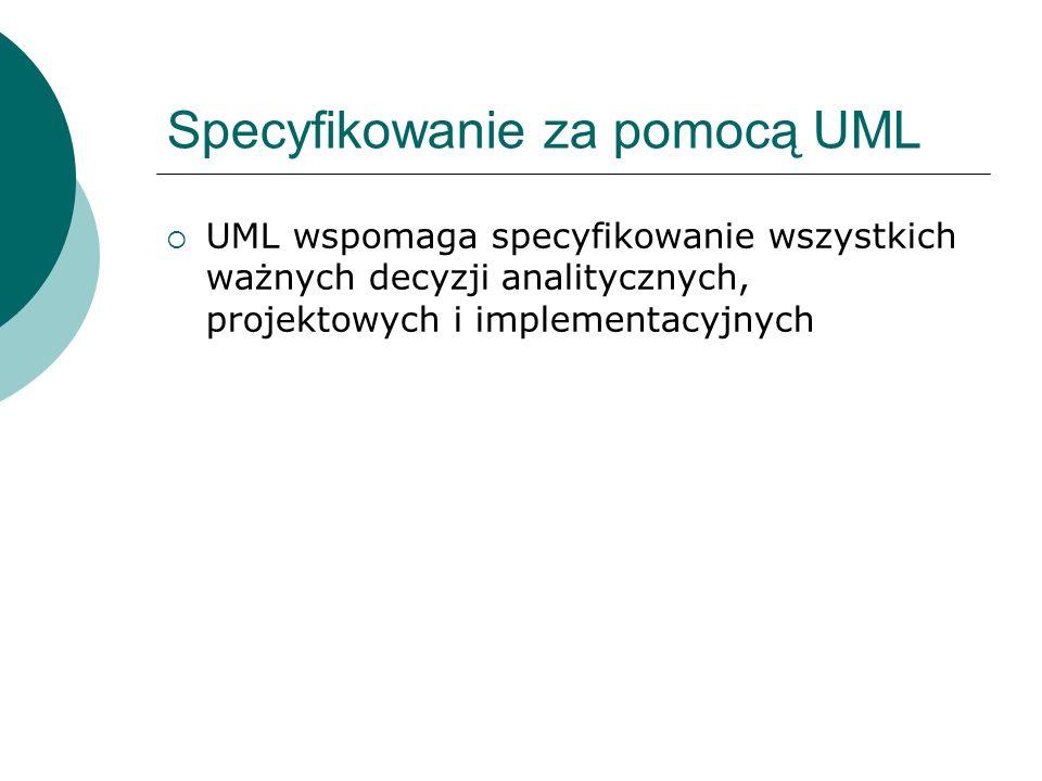 Specyfikowanie za pomocą UML