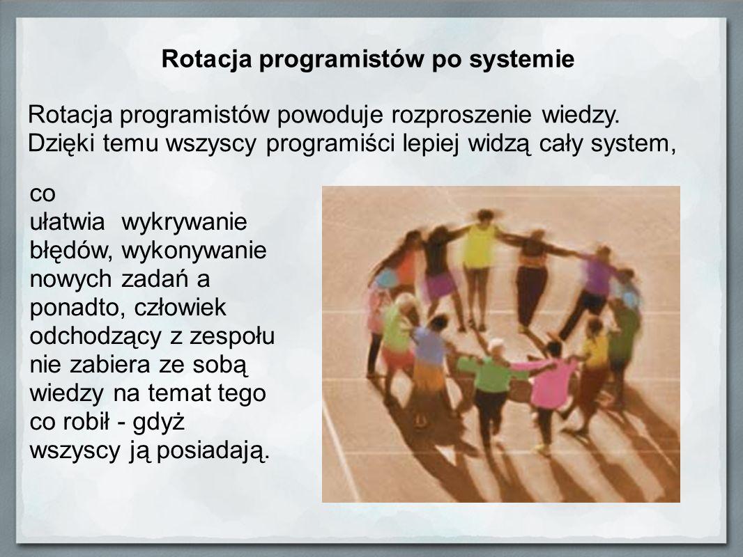 Rotacja programistów po systemie