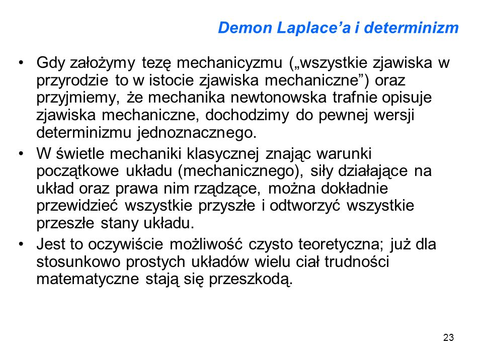 Demon Laplace'a i determinizm