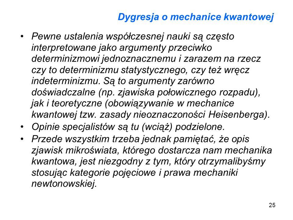 Dygresja o mechanice kwantowej