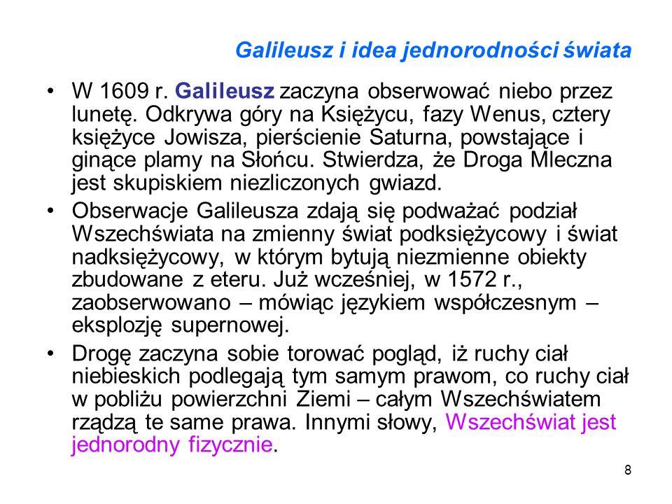 Galileusz i idea jednorodności świata