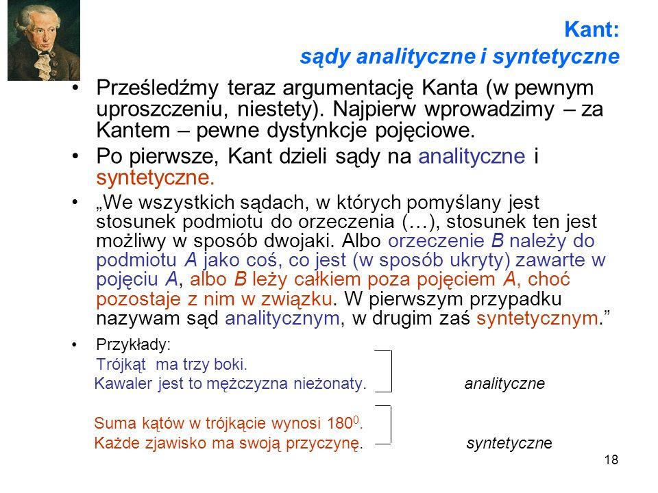 Kant: sądy analityczne i syntetyczne