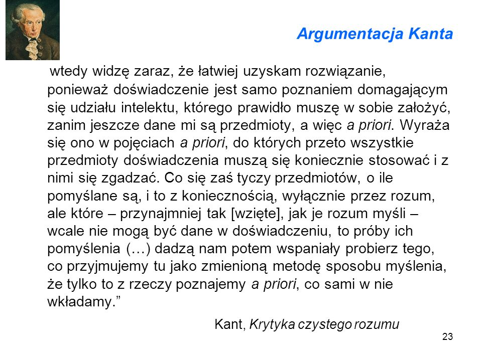 Argumentacja Kanta