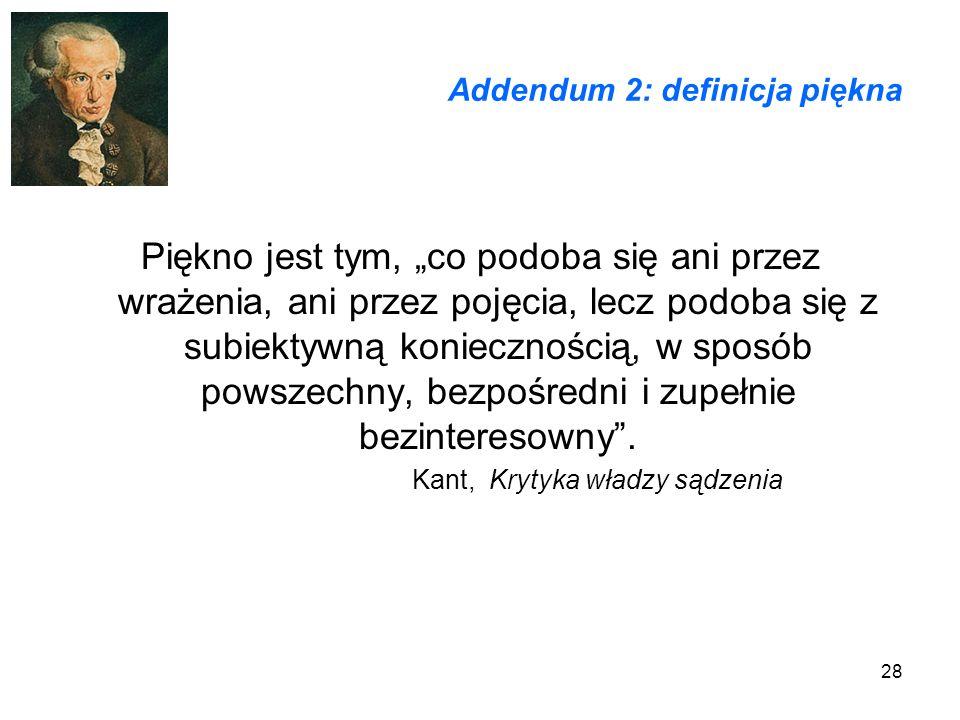 Addendum 2: definicja piękna