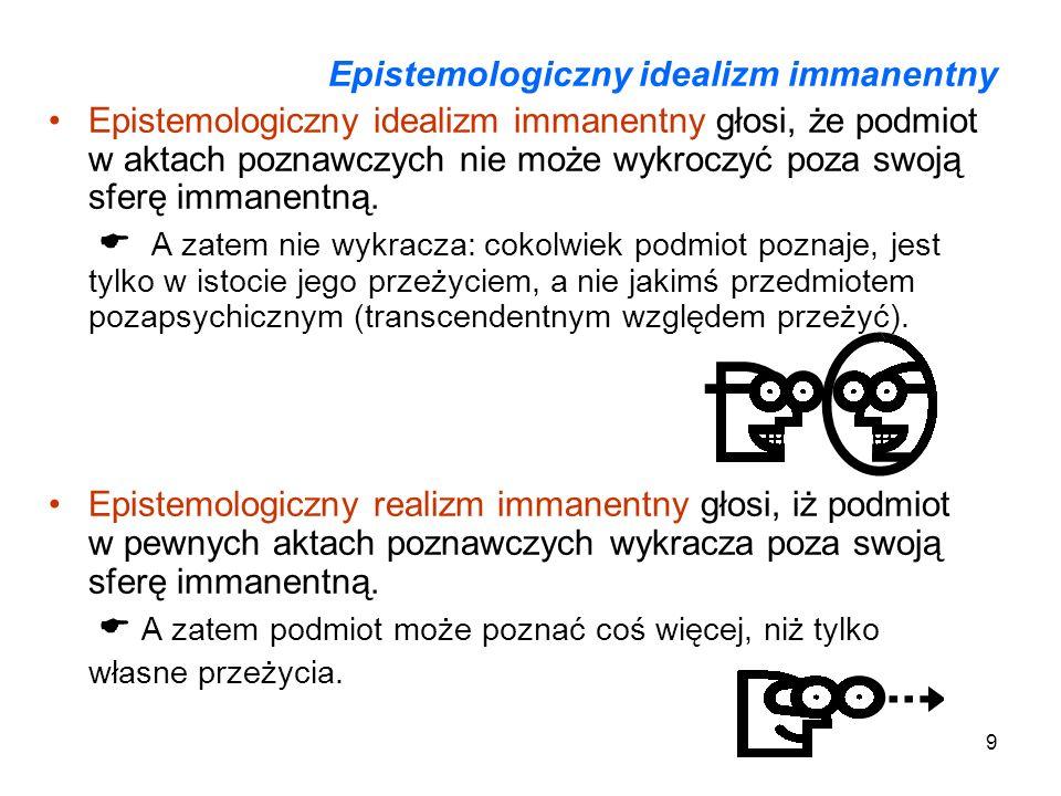 Epistemologiczny idealizm immanentny