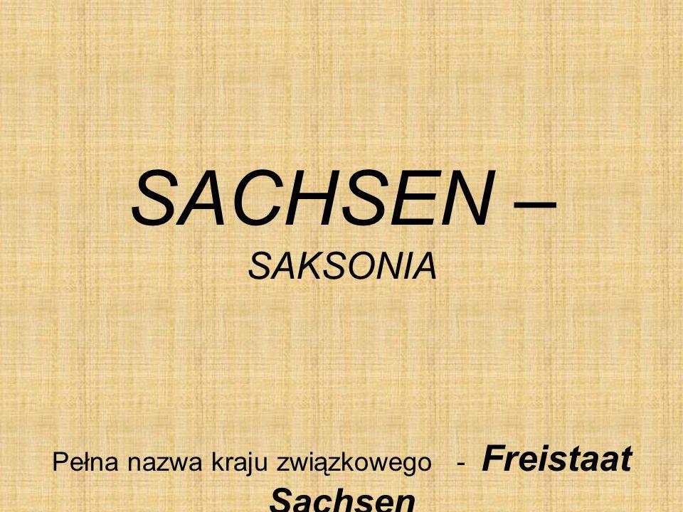 Pełna nazwa kraju związkowego - Freistaat Sachsen