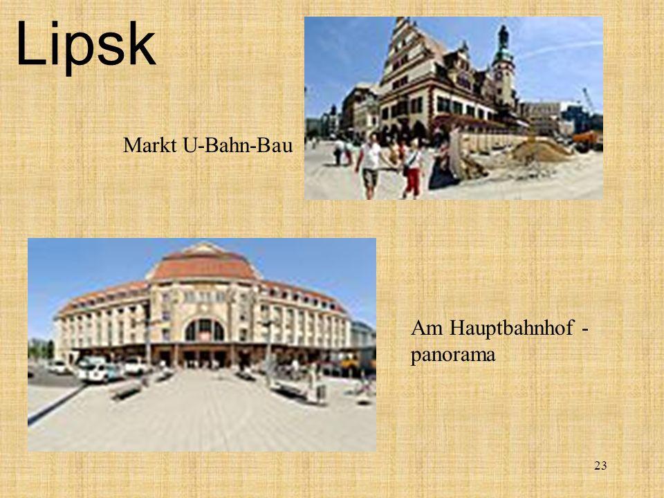 Lipsk Markt U-Bahn-Bau Am Hauptbahnhof - panorama