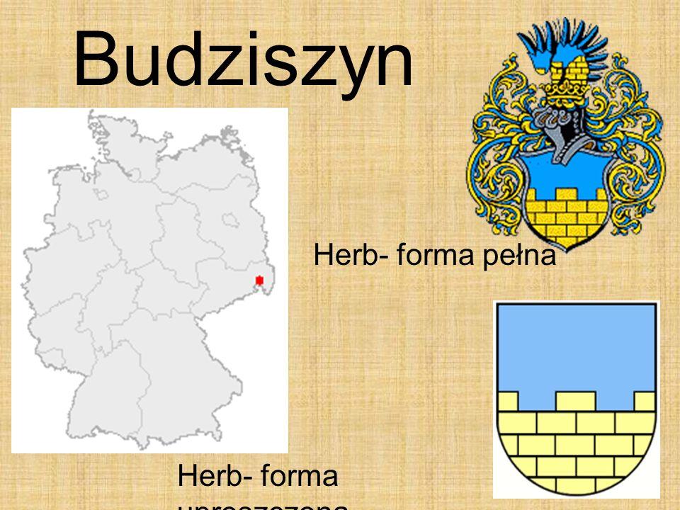 Budziszyn Herb- forma pełna Herb- forma uproszczona
