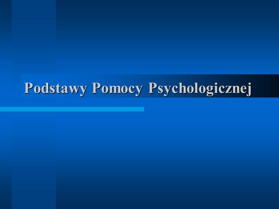 Podstawy Pomocy Psychologicznej