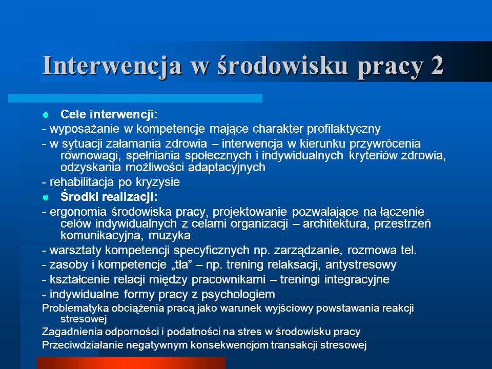 Interwencja w środowisku pracy 2