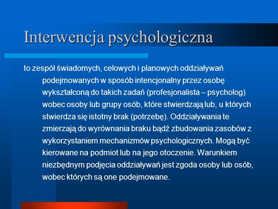 Interwencja psychologiczna