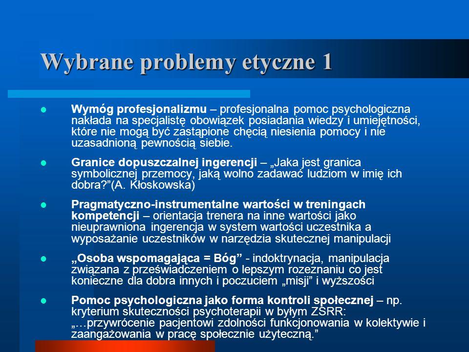 Wybrane problemy etyczne 1