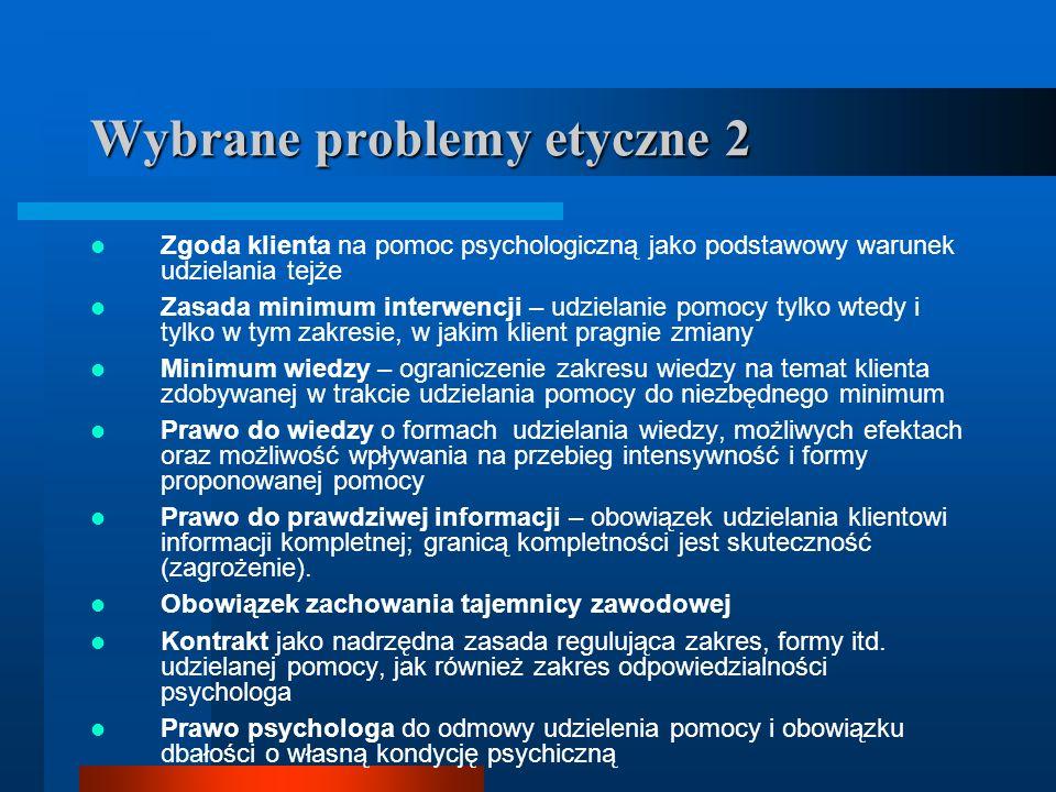 Wybrane problemy etyczne 2