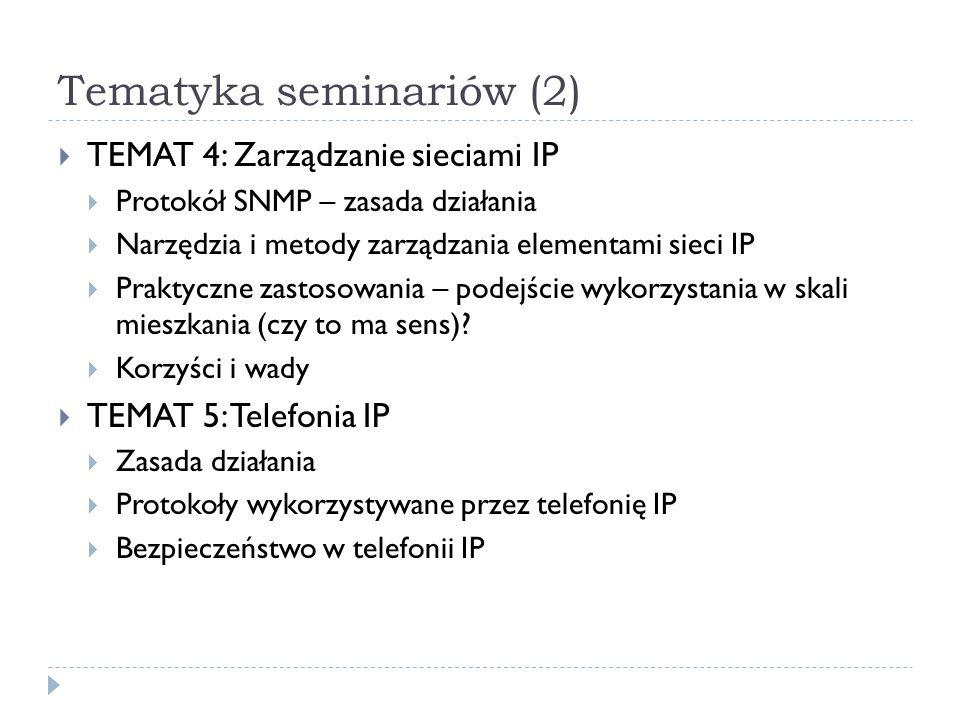 Tematyka seminariów (2)