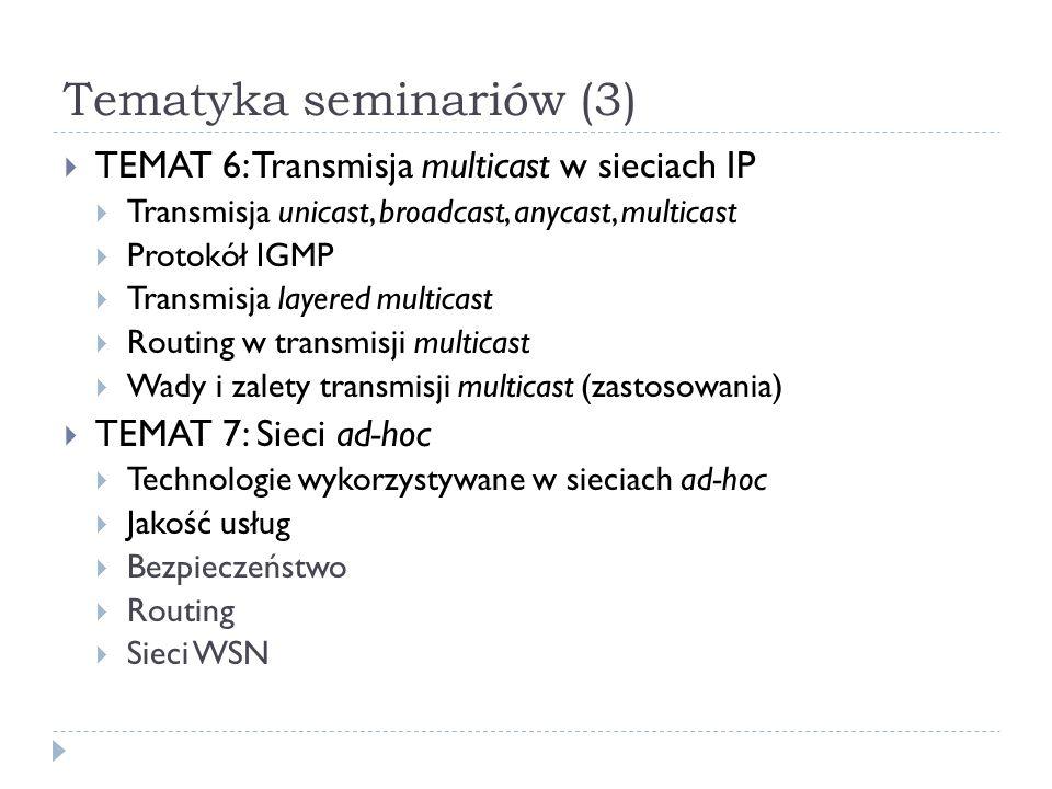 Tematyka seminariów (3)