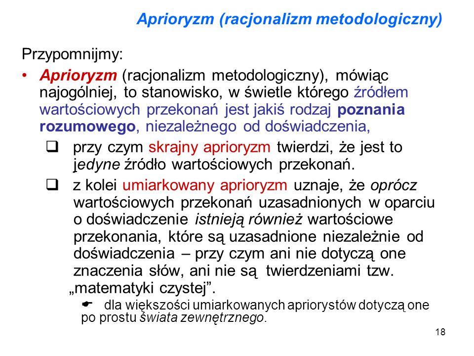 Aprioryzm (racjonalizm metodologiczny)