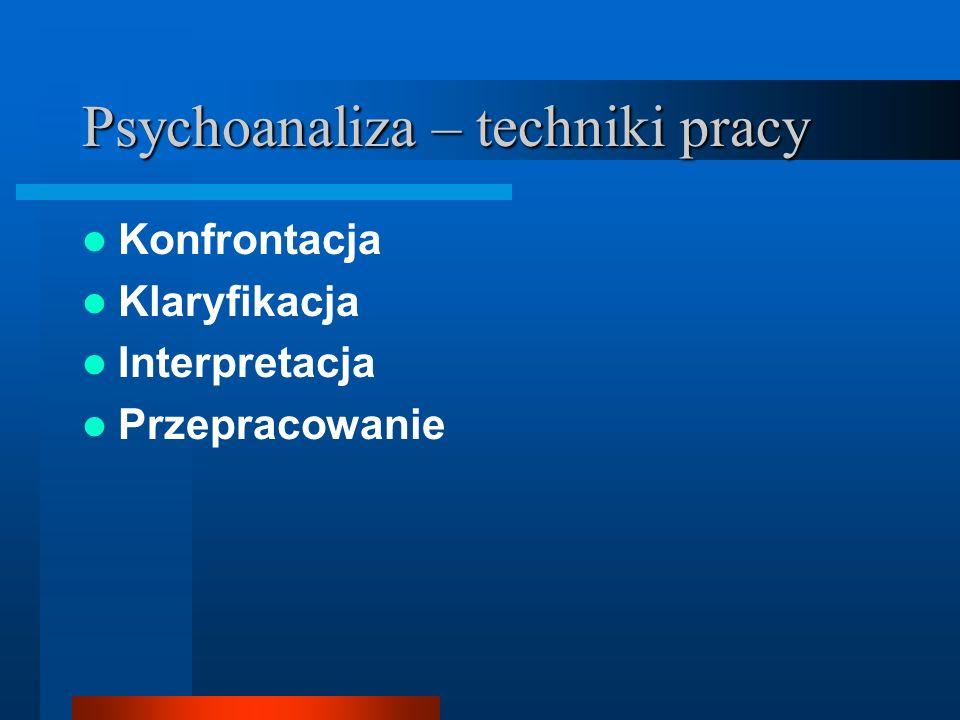Psychoanaliza – techniki pracy