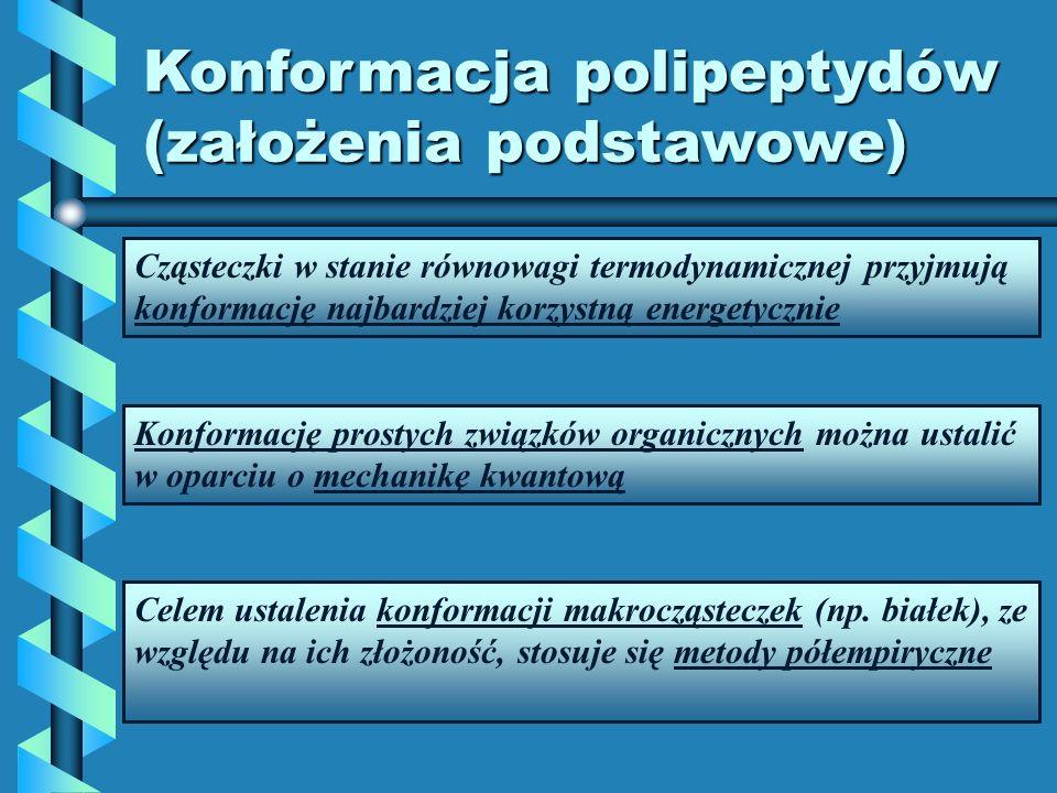 Konformacja polipeptydów (założenia podstawowe)
