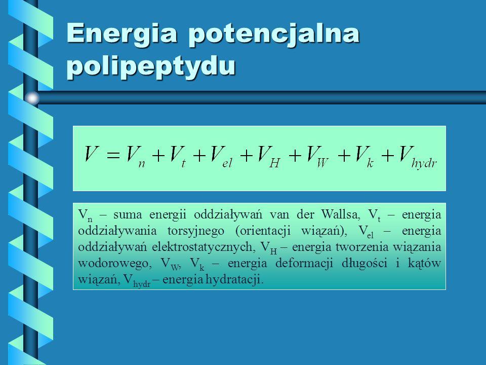 Energia potencjalna polipeptydu