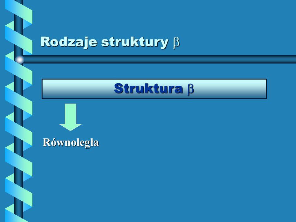 Rodzaje struktury  Struktura  Równoległa