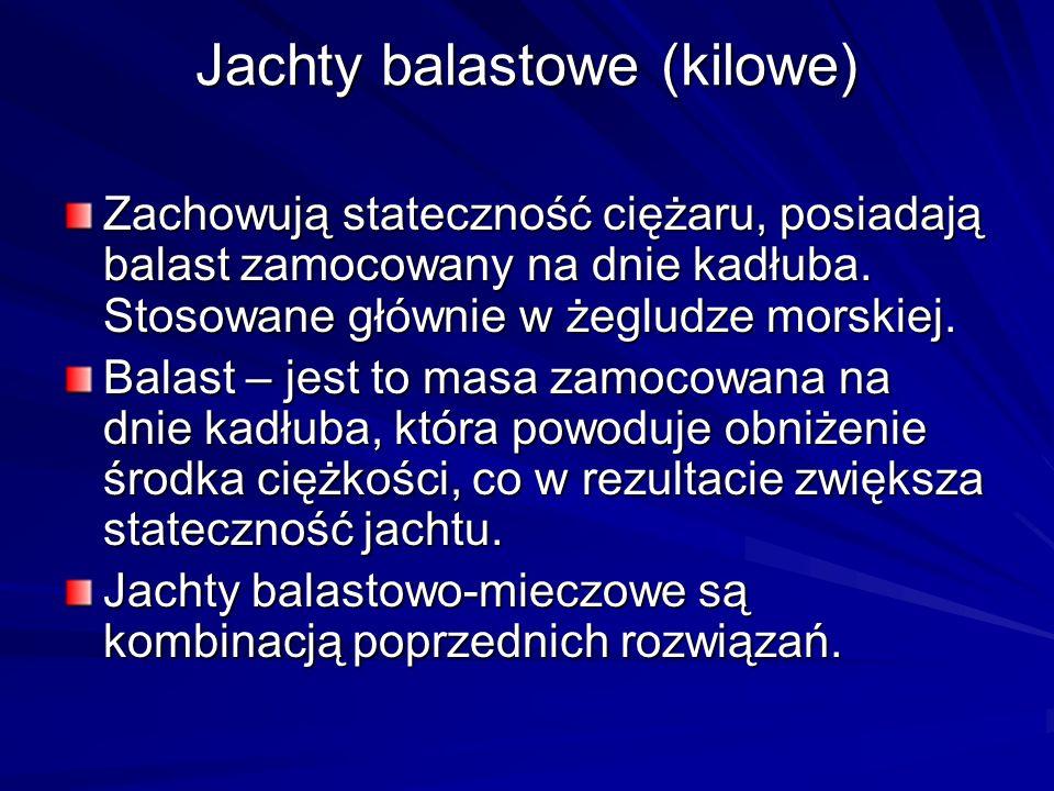 Jachty balastowe (kilowe)