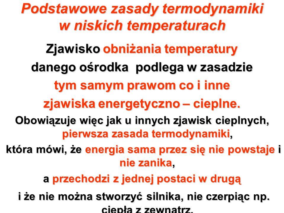 Podstawowe zasady termodynamiki w niskich temperaturach