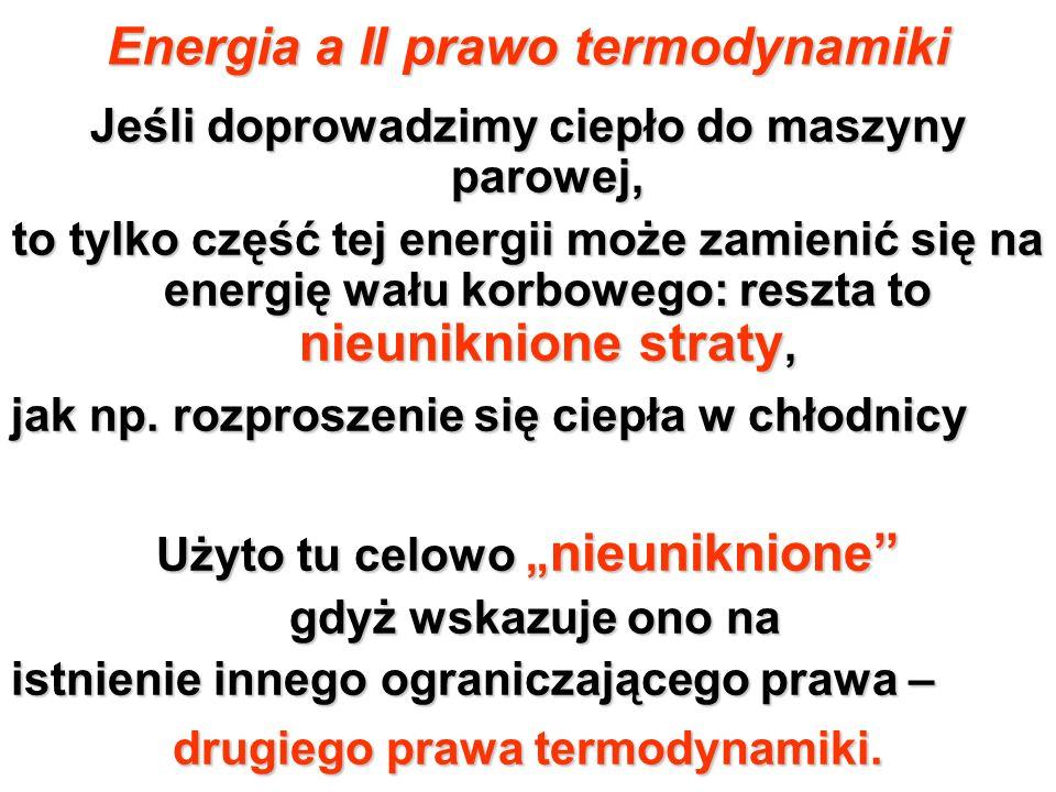 Energia a II prawo termodynamiki