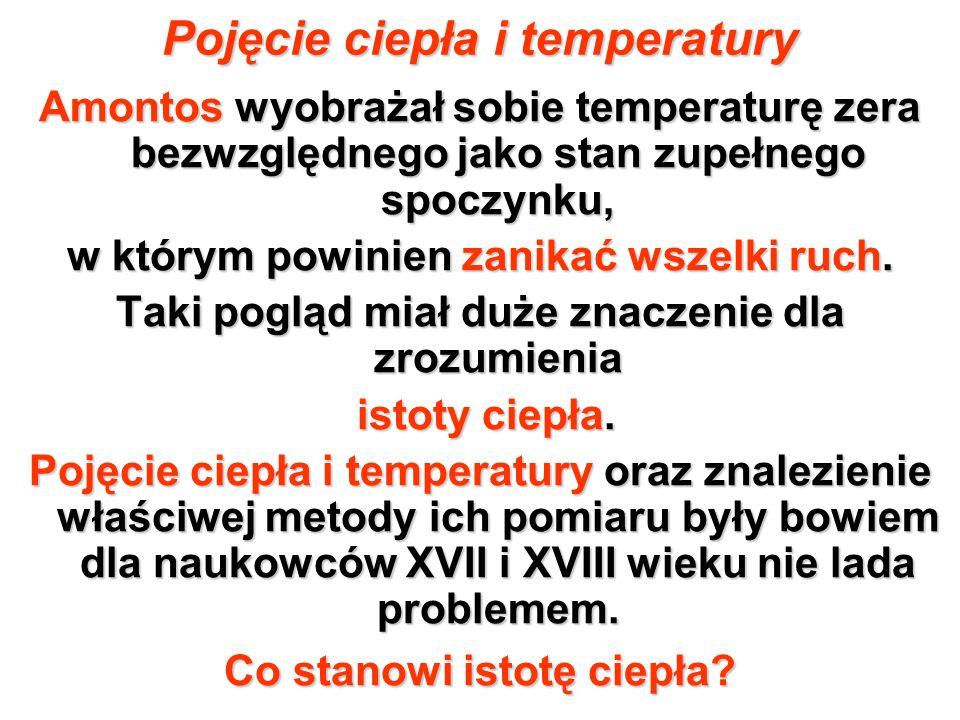 Pojęcie ciepła i temperatury