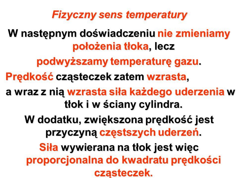Fizyczny sens temperatury