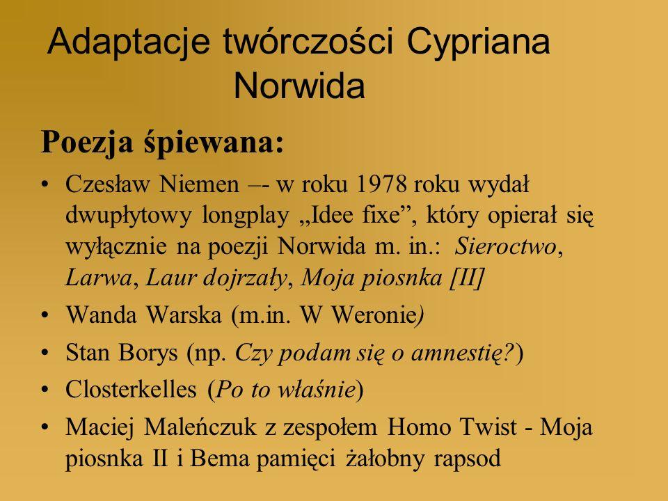 Adaptacje twórczości Cypriana Norwida