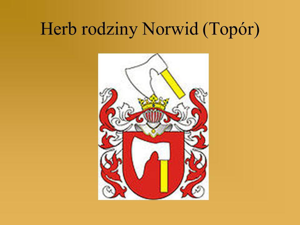 Herb rodziny Norwid (Topór)