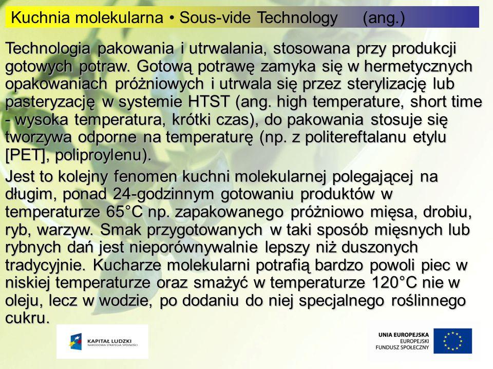 Kuchnia molekularna • Sous-vide Technology (ang.)